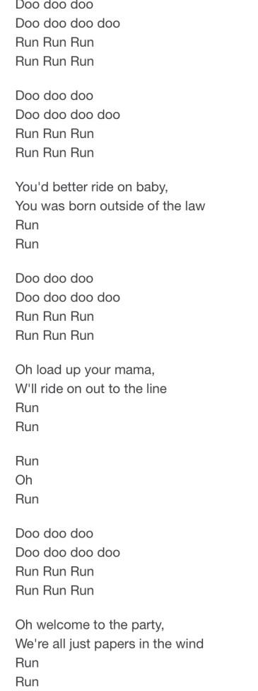 lyrics jo jo gun run - Google Search