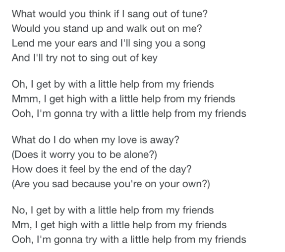 lyric i get high with a little help - Google Search